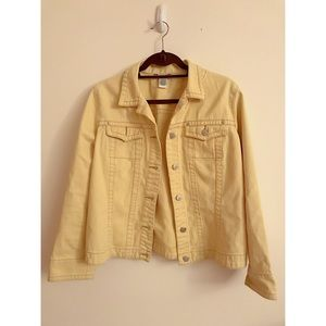 FINAL FLASH- 80s Yellow Denim Jacket